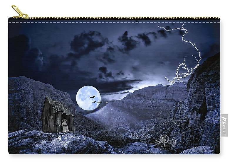 Haunted Carry-all Pouch featuring the photograph A Haunted Mountain Pass by Diane Schuster