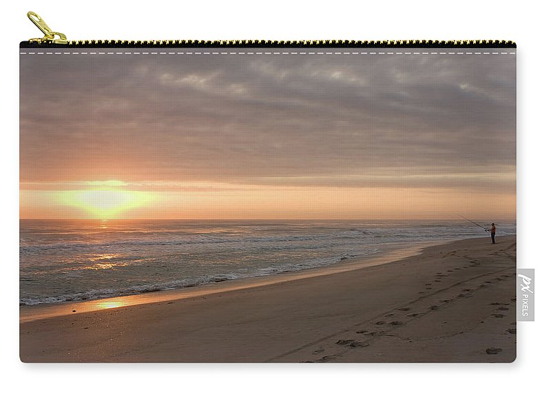 Beach Carry-all Pouch featuring the photograph A New Day by John M Bailey