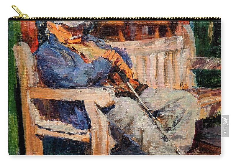 Carry-all Pouch featuring the painting A Place In The Sun by Peter Salwen