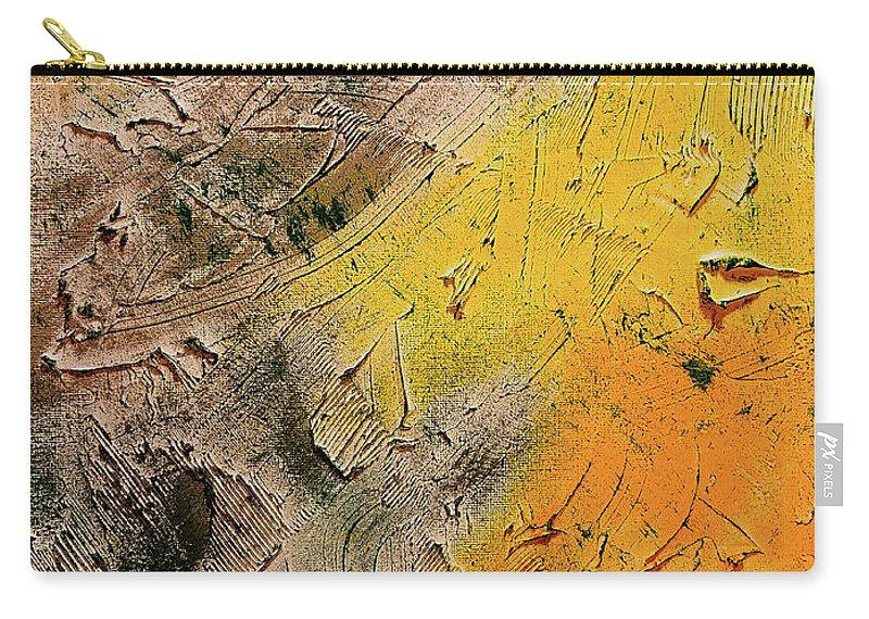 #artprint #wallart #nashvilledesigner #teamspirit #trishapena #originalpainting #teamspiritart #trishapenaart #abstractpainting #abstractartist #nashville #originalartwork #artgallery #abstract #contemporaryart #abstractart #artforsale #artcollector #originalart #nashvilleart #artoftheday #artistsoninstagram #instaart #texture Carry-all Pouch featuring the painting A Sense Of Autumn by Trisha Pena