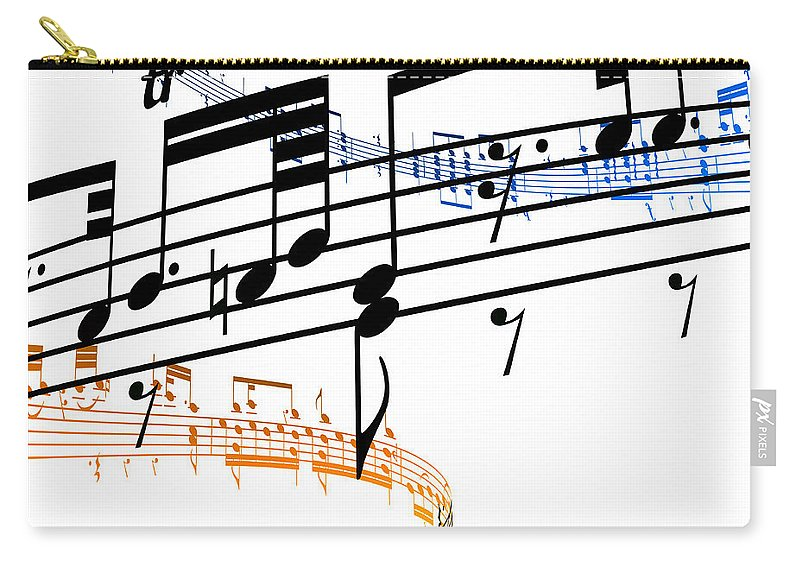 Sheet Music Carry-all Pouch featuring the digital art A Stave Of Music by Ian Mckinnell