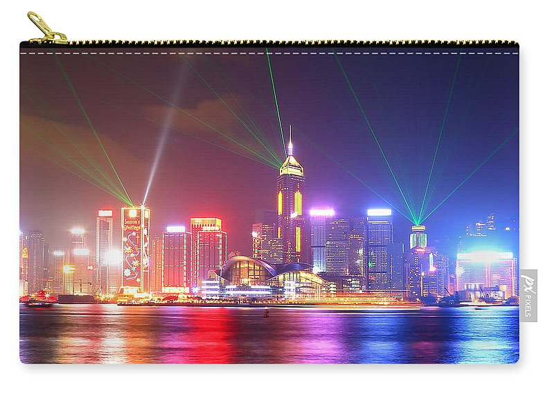 Tranquility Carry-all Pouch featuring the photograph A Symphony Of Lights by Liu Wai Yip Even