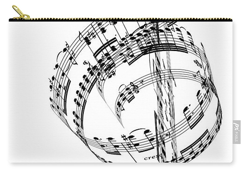 Sheet Music Carry-all Pouch featuring the digital art A Treble Clef Made From Beethovens by Ian Mckinnell