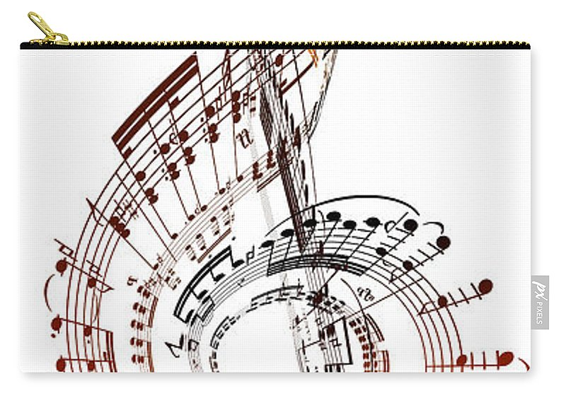 Sheet Music Carry-all Pouch featuring the digital art A Treble Clef Made From Sheet Music by Ian Mckinnell
