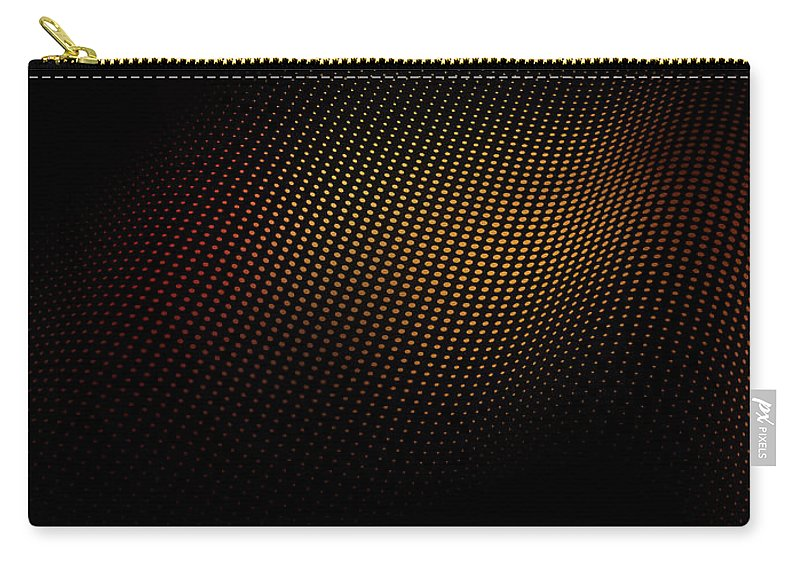 Shadow Carry-all Pouch featuring the digital art A Wave Pattern Of Dots Over Shadow by Ralf Hiemisch