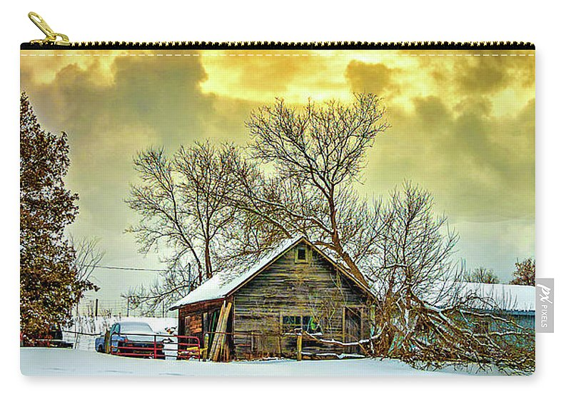 Winter Carry-all Pouch featuring the photograph A Winter Eve by Steve Harrington
