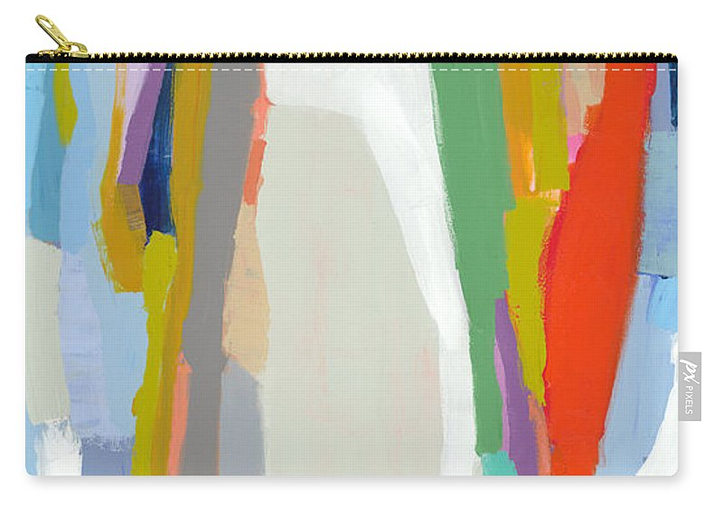 Abstract Carry-all Pouch featuring the painting Aaron And His Greens by Claire Desjardins