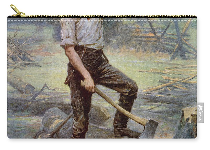 Abraham Lincoln Carry-all Pouch featuring the painting Abe Lincoln The Rail Splitter by War Is Hell Store