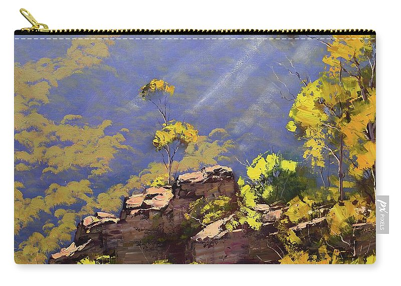 Blue Mountains Carry-all Pouch featuring the painting Above The Valley by Graham Gercken