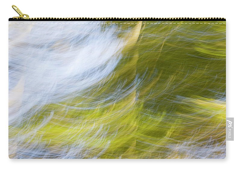 Full Frame Carry-all Pouch featuring the photograph Abstract Close Up Of Trees by Background Abstracts