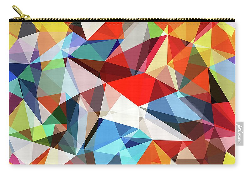 Art Carry-all Pouch featuring the digital art Abstract Colorful Geometrical Background by Natrot