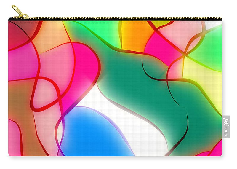 Abstract Carry-all Pouch featuring the digital art Abstract G1 by George Filippopoulos