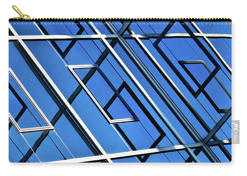 Outdoors Carry-all Pouch featuring the photograph Abstract Geometric Reflection by By Fabrice Geslin