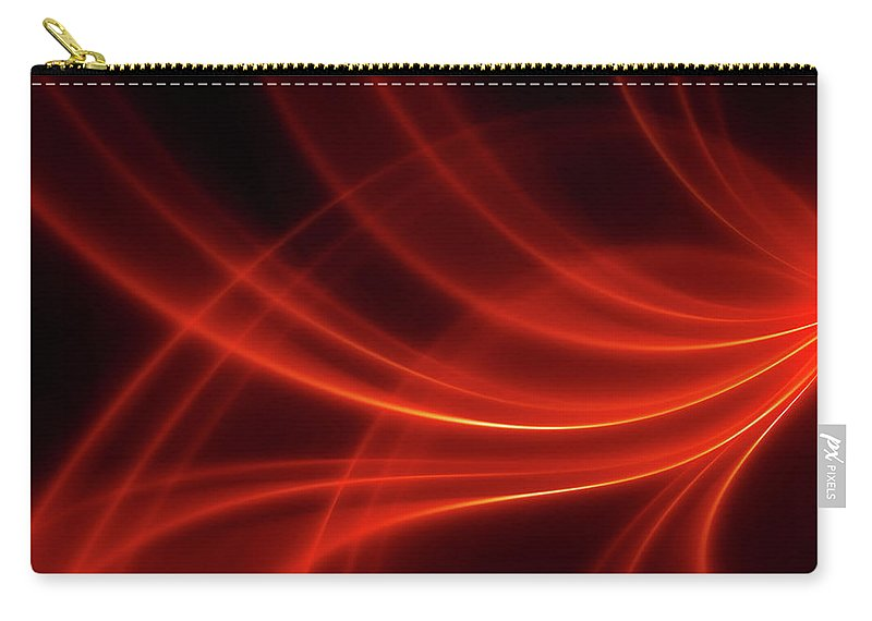 Three Dimensional Carry-all Pouch featuring the photograph Abstract Red Dynamic Lines Backgrounds by Hh5800