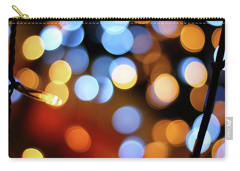 Outdoors Carry-all Pouch featuring the photograph Abstract Spotted Color Pattern Dot Of by Hidehiro Kigawa