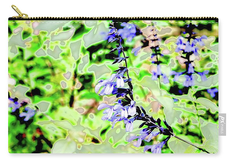 Abstract Carry-all Pouch featuring the photograph Abstract Summer Garden by Alida M Haslett