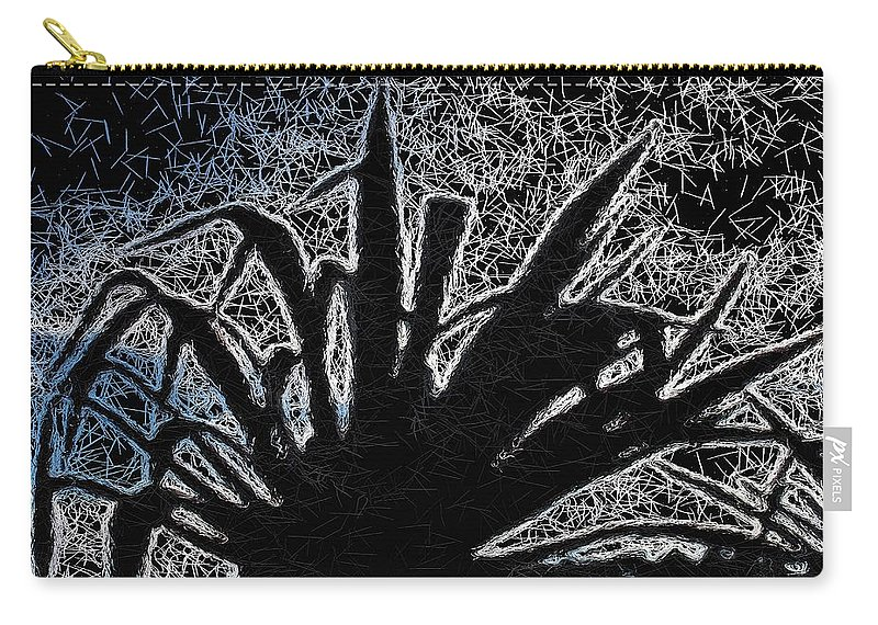 Plant Carry-all Pouch featuring the mixed media Abstract Yucca by Mark J Dunn