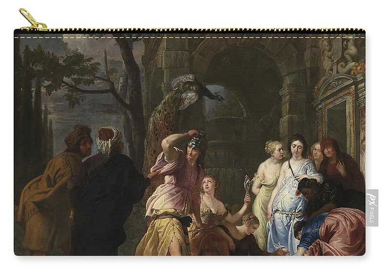 Erasmus Quellinus Ii Carry-all Pouch featuring the painting Achilles And The Daughters Of Archimedes by Erasmus Quellinus II