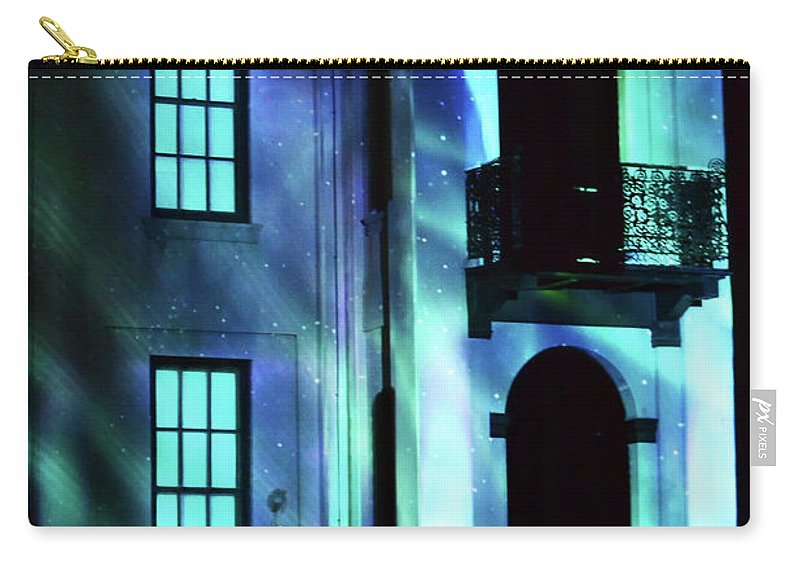 Laser Show Carry-all Pouch featuring the photograph Admiring A Light Show by Carol Jackson