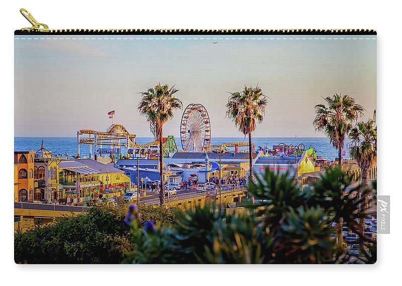 Los Angeles Carry-all Pouch featuring the photograph Adventure Time by Az Jackson
