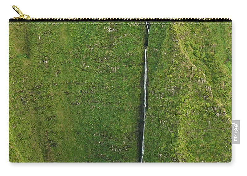 Scenics Carry-all Pouch featuring the photograph Aerial View Of Waterfall In Narrow by Enrique R. Aguirre Aves