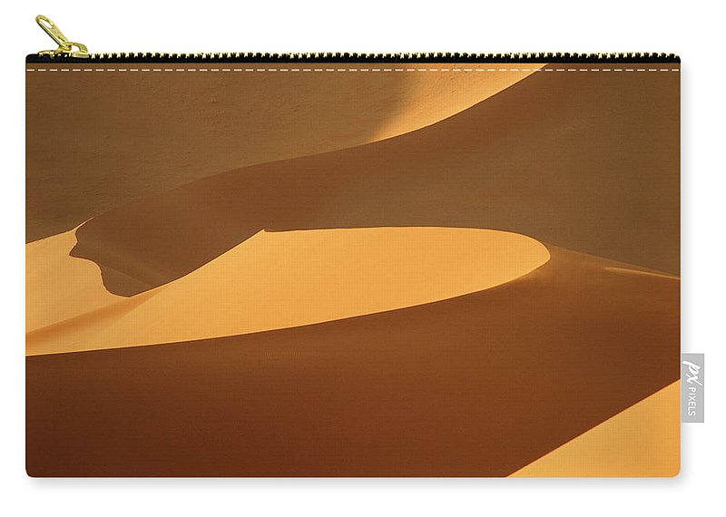 Shadow Carry-all Pouch featuring the photograph Africa, Namibia, Sand Dunes, Full Frame by Peter Adams