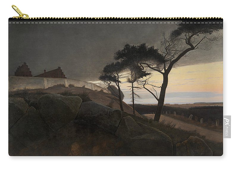 19th Century Art Carry-all Pouch featuring the painting After Sunset by Laurits Andersen Ring