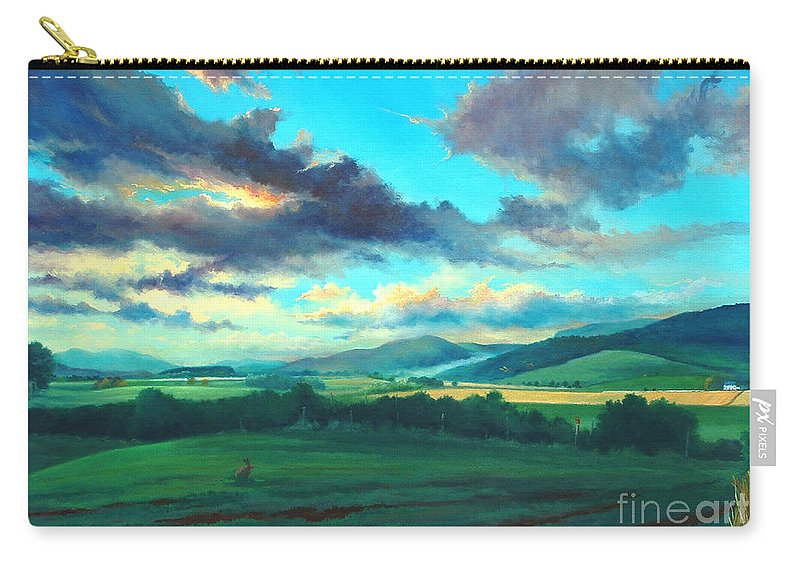 Scotish Carry-all Pouch featuring the painting After The Storm by Ashley Jennings