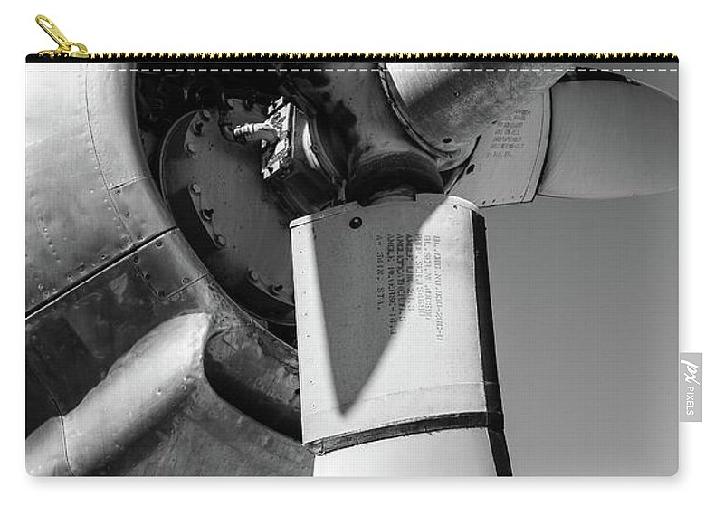 Air Force Carry-all Pouch featuring the photograph Airplane Propeller by Edward Fielding