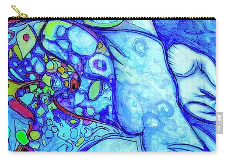 Carry-all Pouch featuring the painting Alcatraz by Judy Henninger