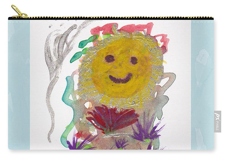 Painting Carry-all Pouch featuring the painting Alegria - Pintoresco Art By Sylvia by Sylvia Pintoresco