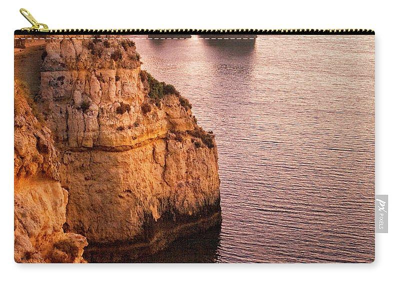 Algarve Carry-all Pouch featuring the photograph Algarve Coastline, Lagos, Portugal by Zu Sanchez Photography