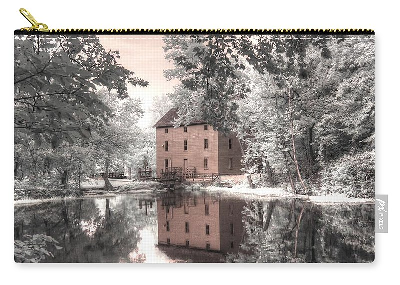 Alley Springs Carry-all Pouch featuring the photograph Alley Springs Ozarks National Scenic Riverway infrared by Jane Linders