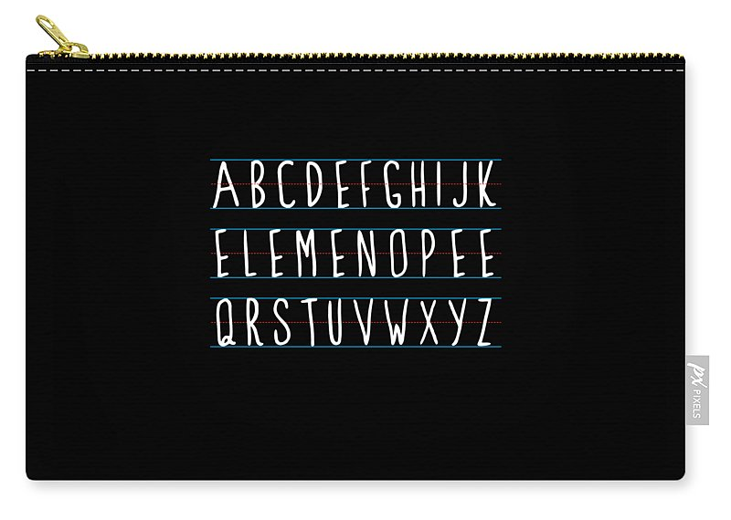 Cool Carry-all Pouch featuring the digital art Alphabet Elemeno by Flippin Sweet Gear