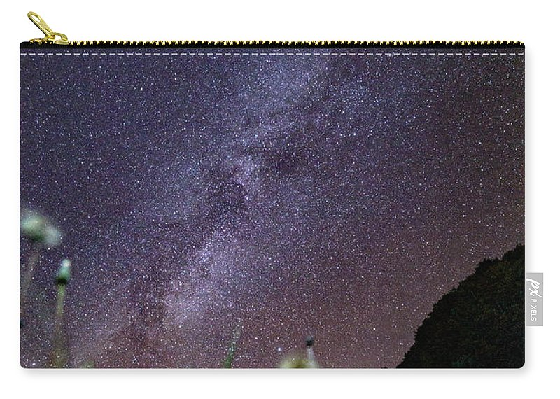 Milky Way Carry-all Pouch featuring the photograph Alpine Milky Way by Nunzio Mannino