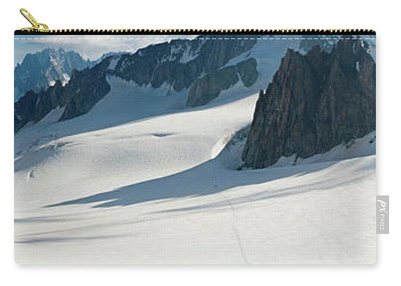 Scenics Carry-all Pouch featuring the photograph Alps Mont Blanc Vall&233e Blanche by Fotovoyager