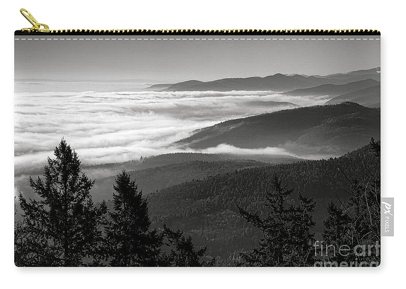 Alsace Carry-all Pouch featuring the photograph Alsace Mountains by Olivier Le Queinec