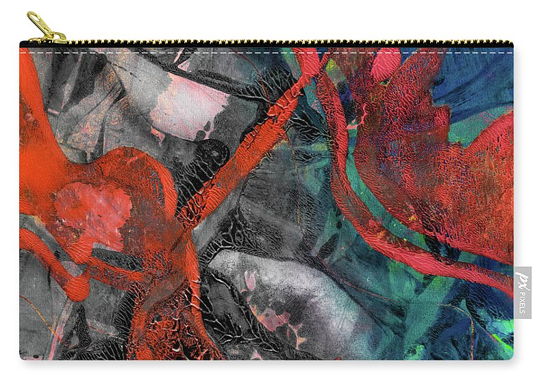 Abstract Carry-all Pouch featuring the mixed media Alternate Reality by Laura L Leatherwood