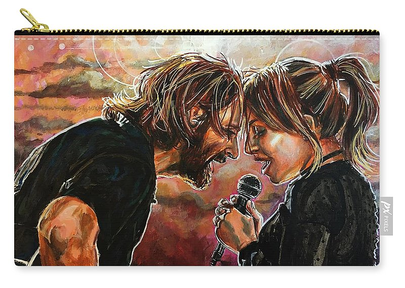 A Star Is Born Carry-all Pouch featuring the painting Always Remember Us This Way by Joel Tesch