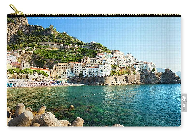 Tyrrhenian Sea Carry-all Pouch featuring the photograph Amalfi Coast, Italy by Brzozowska