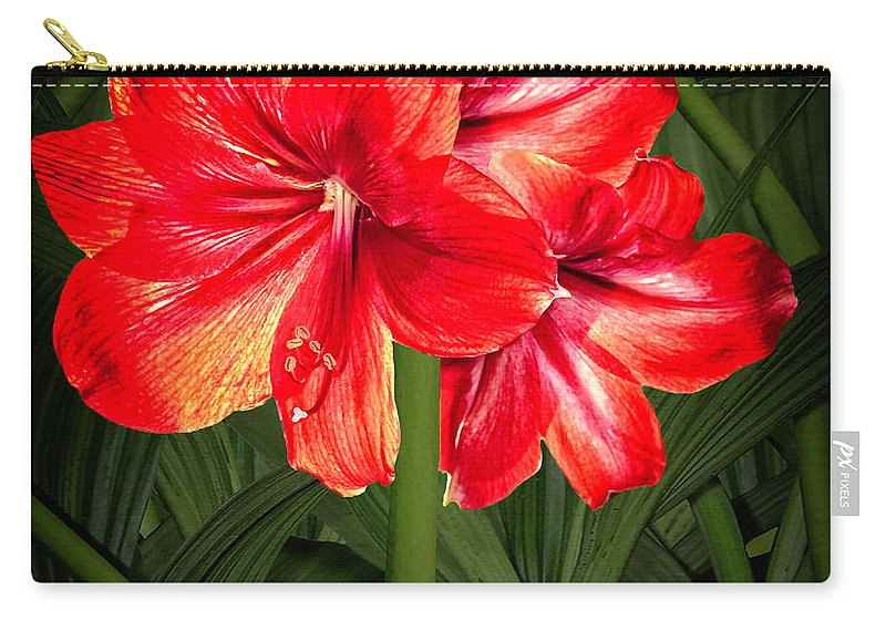 Hawaii Carry-all Pouch featuring the digital art Amaryllis by Joseph Vittek