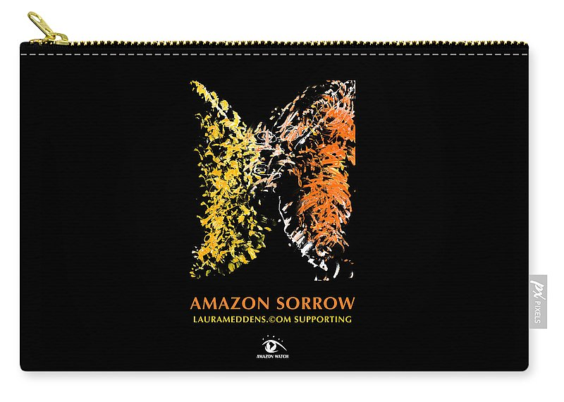Amazon Carry-all Pouch featuring the painting Amazon Sorrow by Laura Meddens