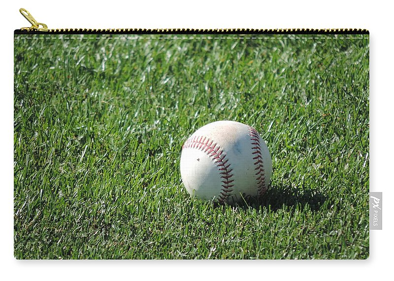 America's Pastime Carry-all Pouch featuring the photograph America's Pastime by Bill Tomsa