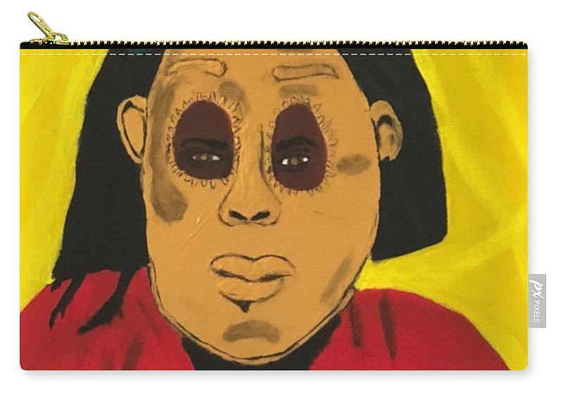African Carry-all Pouch featuring the painting Ancestral Spirit by Sonye Locksmith