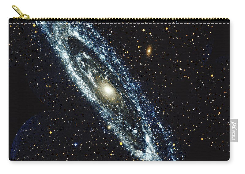 Outdoors Carry-all Pouch featuring the photograph Andromeda Galaxy by Stocktrek