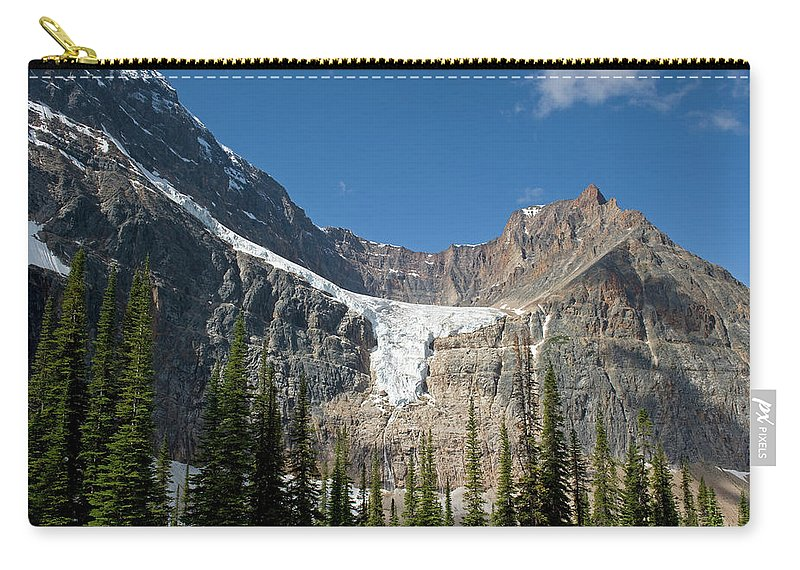 Scenics Carry-all Pouch featuring the photograph Angel Glacier by Jim Julien / Design Pics