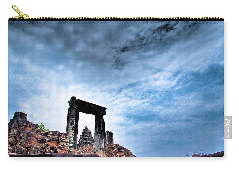 Cambodian Culture Carry-all Pouch featuring the photograph Angkor by Cjfan