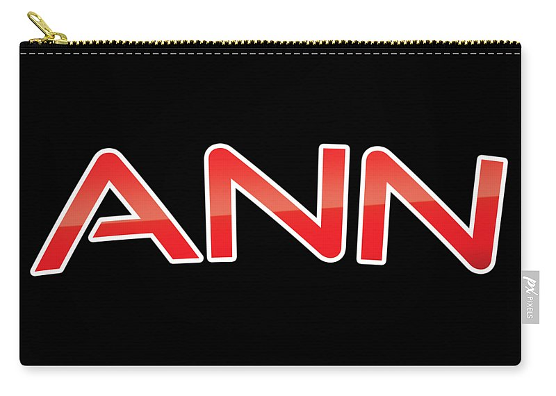 Ann Carry-all Pouch featuring the digital art Ann by TintoDesigns