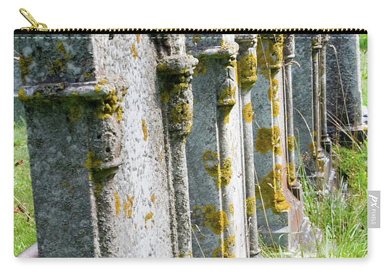 Nova Scotia Carry-all Pouch featuring the photograph Annapolis Royal Gravestones by David Smith