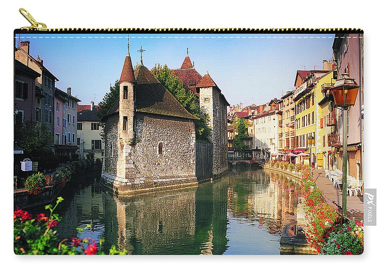 Town Carry-all Pouch featuring the photograph Annecy, Savoie, France by Robertharding
